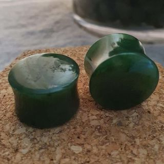 19mm Nephrite Jade Plugs