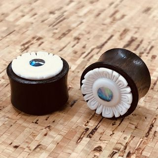 Paua Flower Plugs