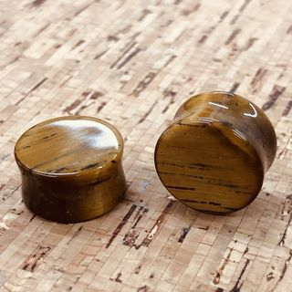 16mm Tigers Eye Plugs