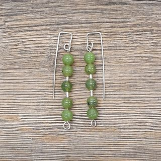 Jade Greenstone Earrings