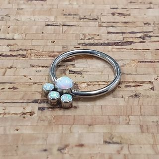 11mm Fixed Gem Cluster Ring
