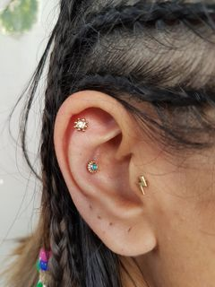 helix, conch & tragus