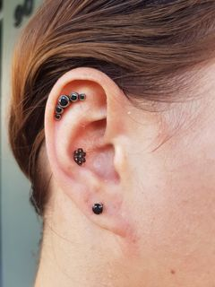 helix, conch & lobe
