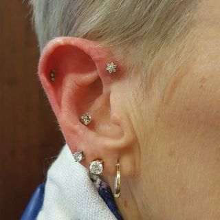 forward helix, helix & conch