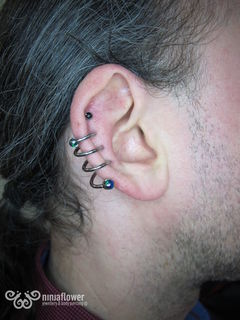 16 gauge triple helix corkscrew