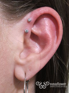 16 gauge double forward helix