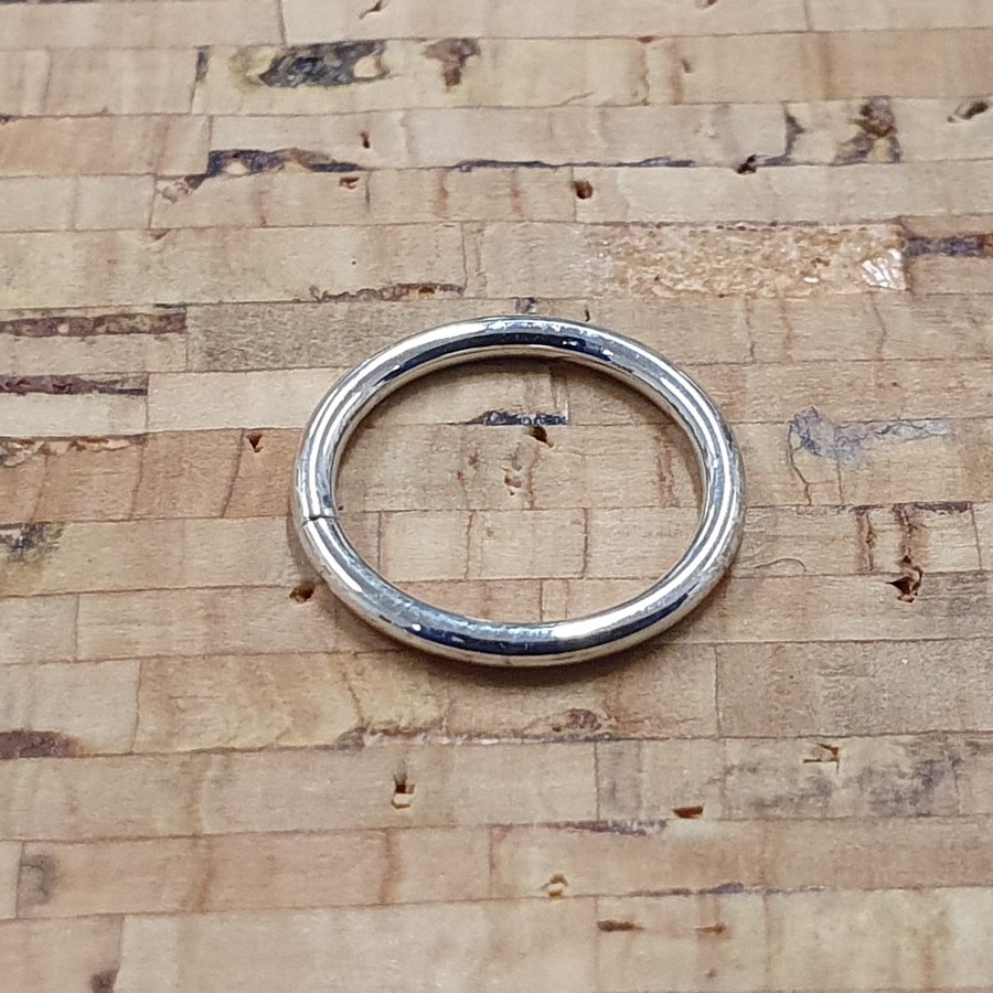 1mm White Gold Seam Ring