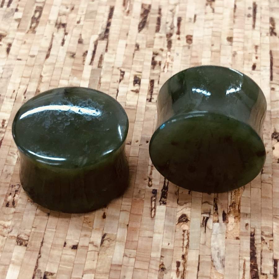 22mm Nephrite Jade Plugs