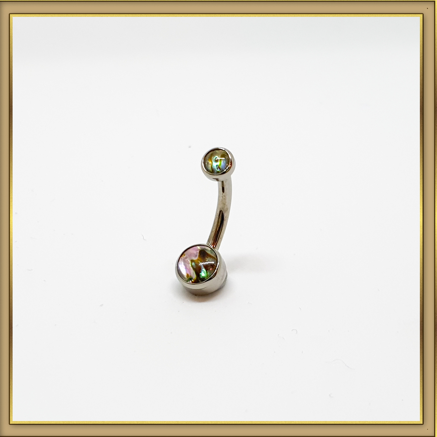 Bezel Natural Stone Navel Curve