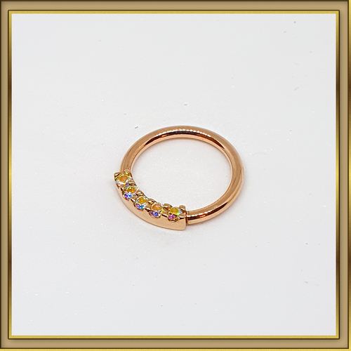 1.2mm 5 Gem Blaze Seam Ring