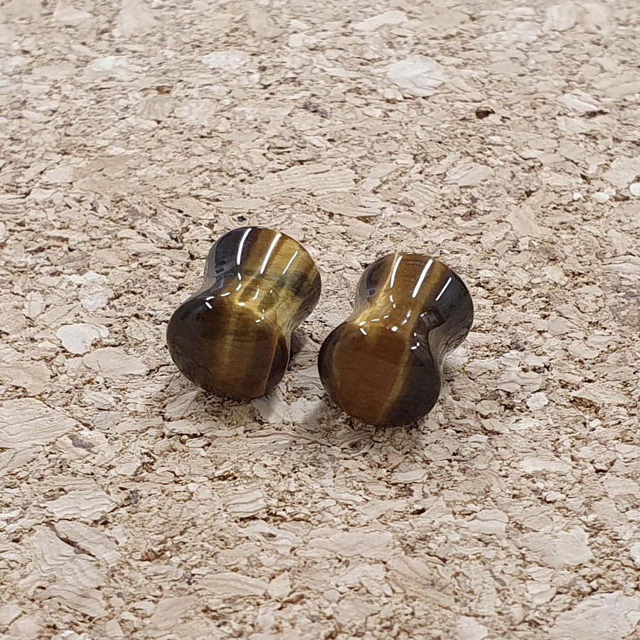 8mm Tigers Eye Plugs