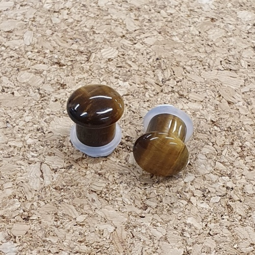 9.5mm Tigers Eye Plugs