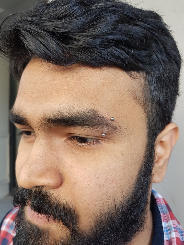 16 gauge eyebrow